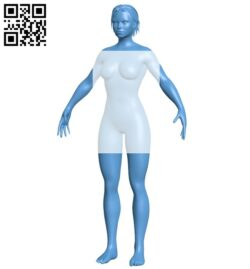 Primitive woman B009005 file obj free download 3D Model for CNC and 3d printer