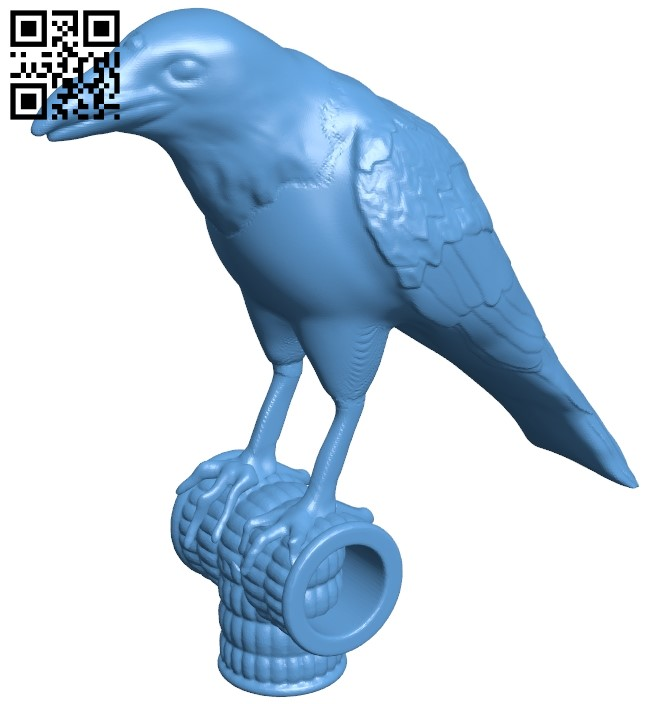 Raven B009036 file obj free download 3D Model for CNC and 3d printer