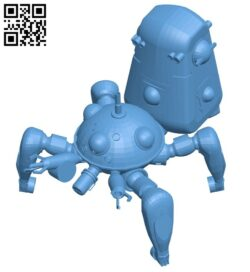 Robot tachikoma B008976 file obj free download 3D Model for CNC and 3d printer