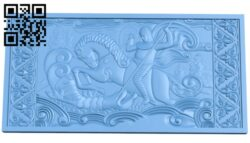 Saint George pattern decor A005902 download free stl files 3d model for CNC wood carving