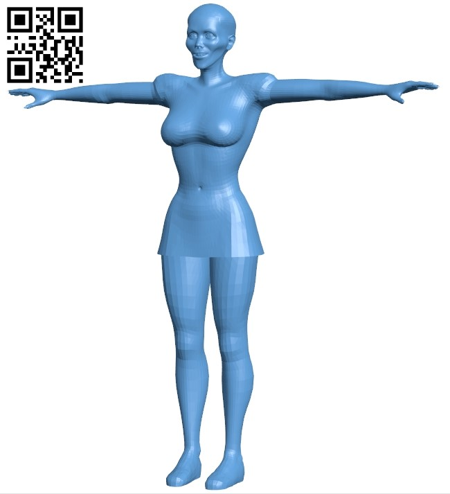 Scary woman B008962 file obj free download 3D Model for CNC and 3d printer