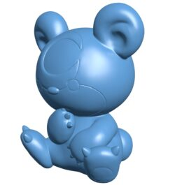 Teddiursa – pokemon B008980 file obj free download 3D Model for CNC and 3d printer