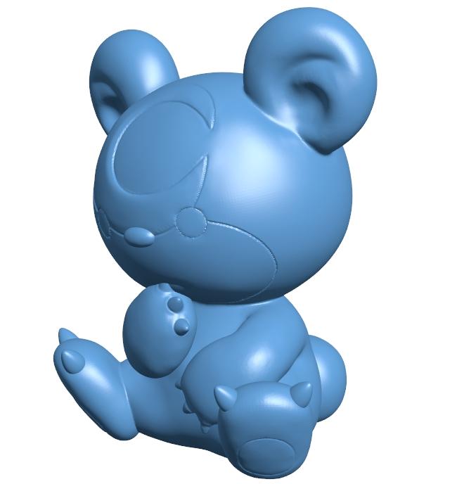 Teddiursa - pokemon B008980 file obj free download 3D Model for CNC and 3d printer