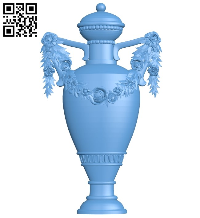 The vase of flowers A005946 download free stl files 3d model for CNC wood carving