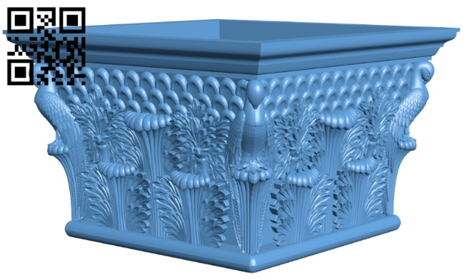 Top of the column A005872 download free stl files 3d model for CNC wood carving