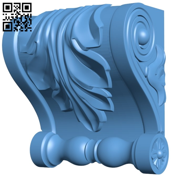 Top of the column A005950 download free stl files 3d model for CNC wood carving