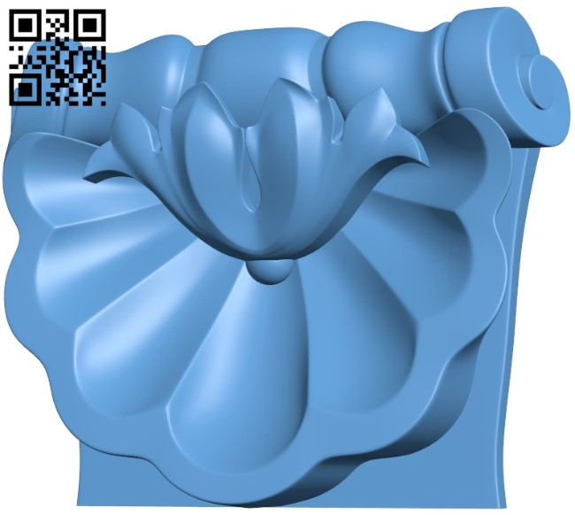 Top of the column A005951 download free stl files 3d model for CNC wood carving