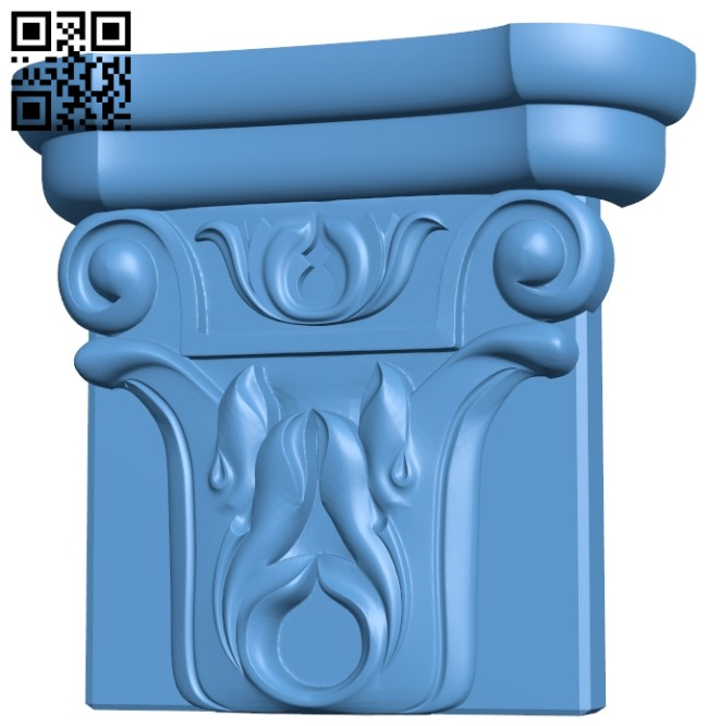 Top of the column A005953 download free stl files 3d model for CNC wood carving