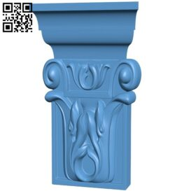 Top of the column A005954 download free stl files 3d model for CNC wood carving