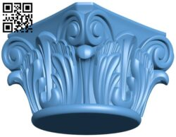 Top of the column A005956 download free stl files 3d model for CNC wood carving