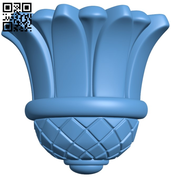 Top of the column A005958 download free stl files 3d model for CNC wood carving