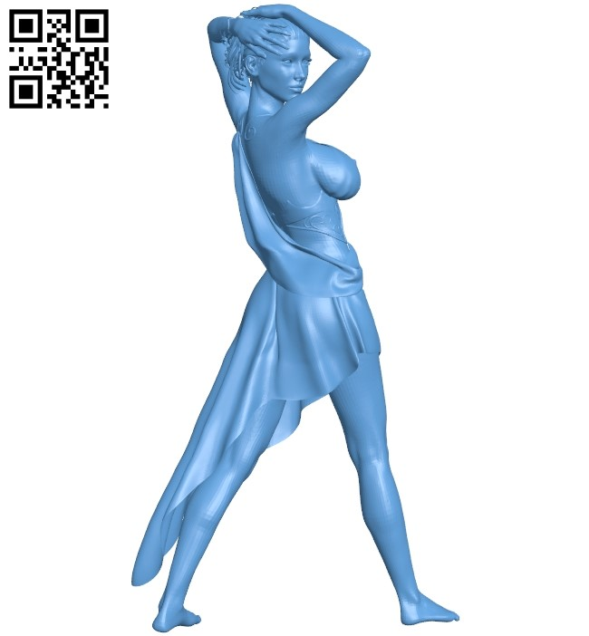 Women dress B008948 file obj free download 3D Model for CNC and 3d printer