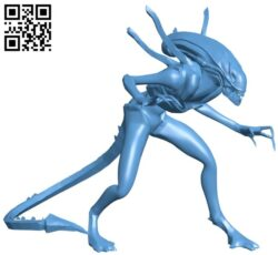 Xenomorph – space monsters B008990 file obj free download 3D Model for CNC and 3d printer
