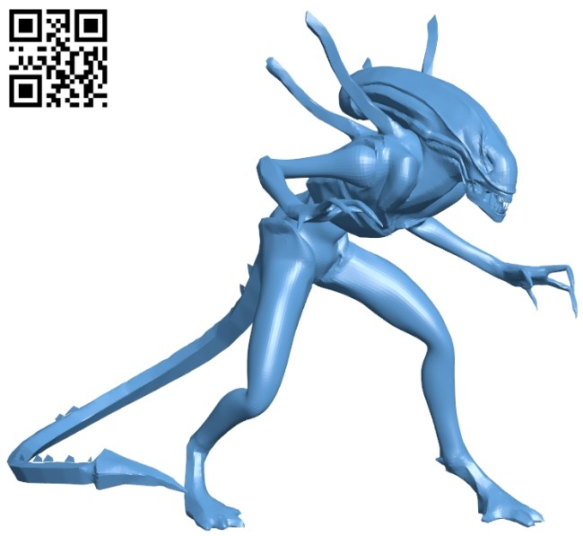 Xenomorph - space monsters B008990 file obj free download 3D Model for CNC and 3d printer