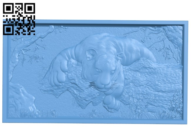A picture of a tiger on the hunt A006021 download free stl files 3d model for CNC wood carving