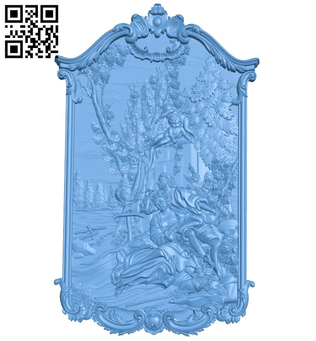 A romantic scenery A006023 download free stl files 3d model for CNC wood carving