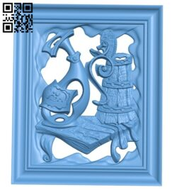 Ancient painting A006140 download free stl files 3d model for CNC wood carving