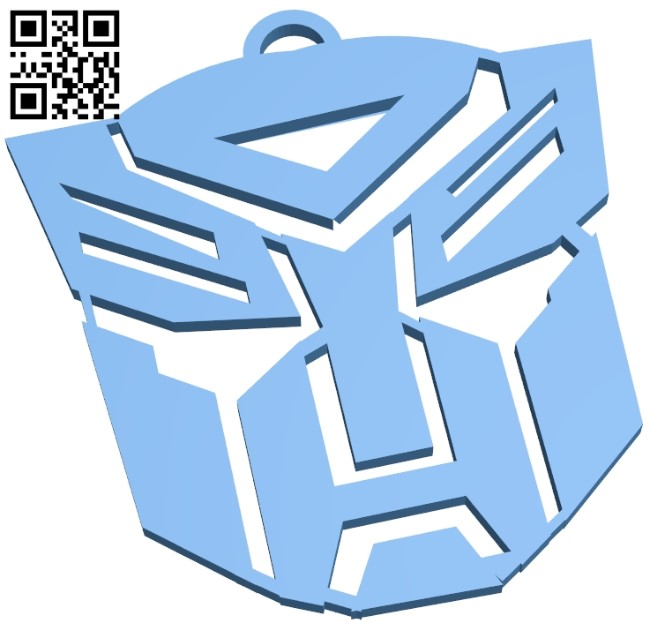 Autobot icon B009100 file obj free download 3D Model for CNC and 3d printer