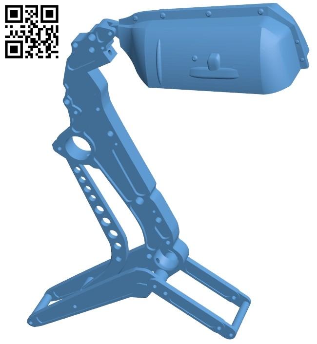 Aviation lamp B009101 file obj free download 3D Model for CNC and 3d printer