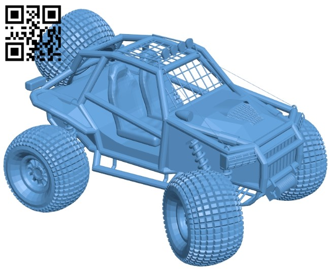 Baggy Quadrocycle - car B009102 file obj free download 3D Model for CNC and 3d printer