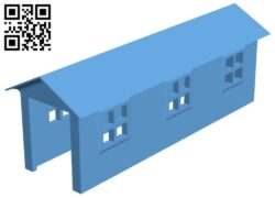 Barn – house B009103 file obj free download 3D Model for CNC and 3d printer