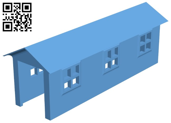 Barn - house B009103 file obj free download 3D Model for CNC and 3d printer