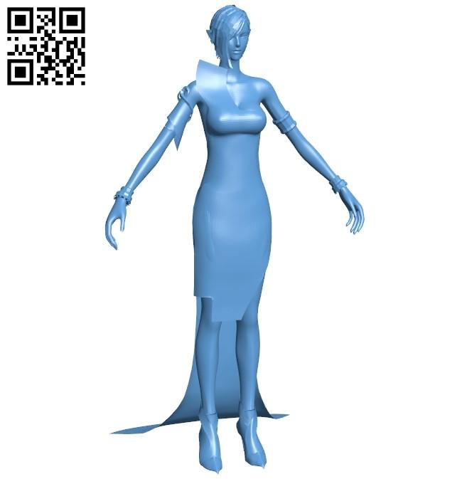 Beautiful girl B009110 file obj free download 3D Model for CNC and 3d printer