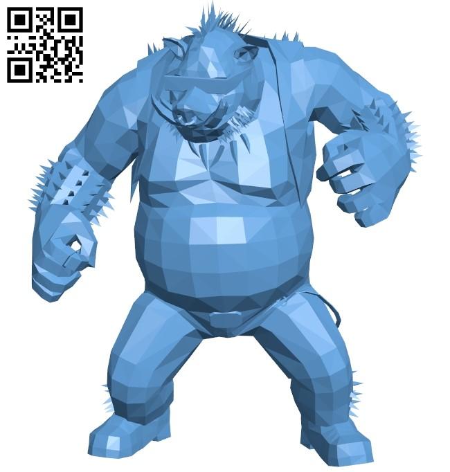 Bebop B009109 file obj free download 3D Model for CNC and 3d printer