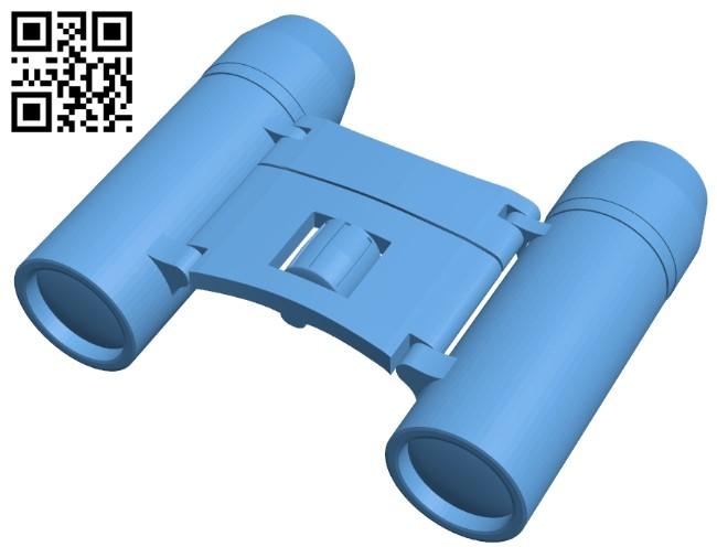 Binoculars B009120 file obj free download 3D Model for CNC and 3d printer