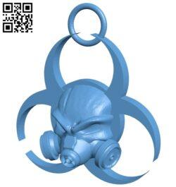 Biohazard – pendant B009210 file obj free download 3D Model for CNC and 3d printer