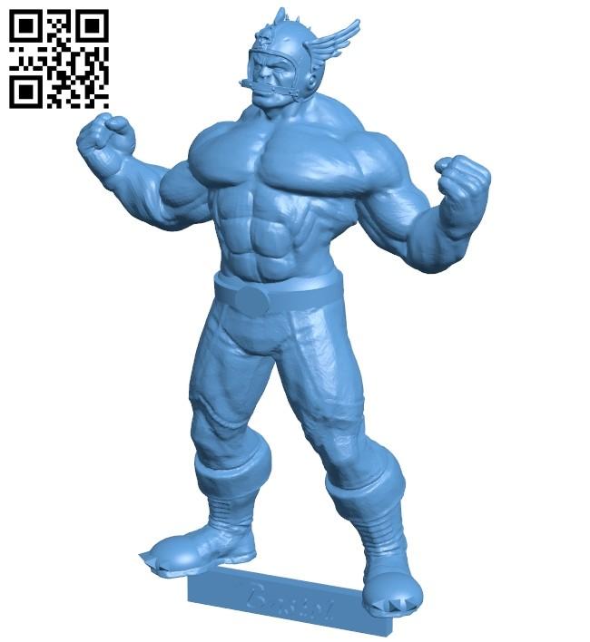 Blood bowl big guy - superhero B009213 file obj free download 3D Model for CNC and 3d printer