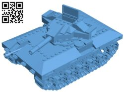 Bulldog tank B009094 file obj free download 3D Model for CNC and 3d printer