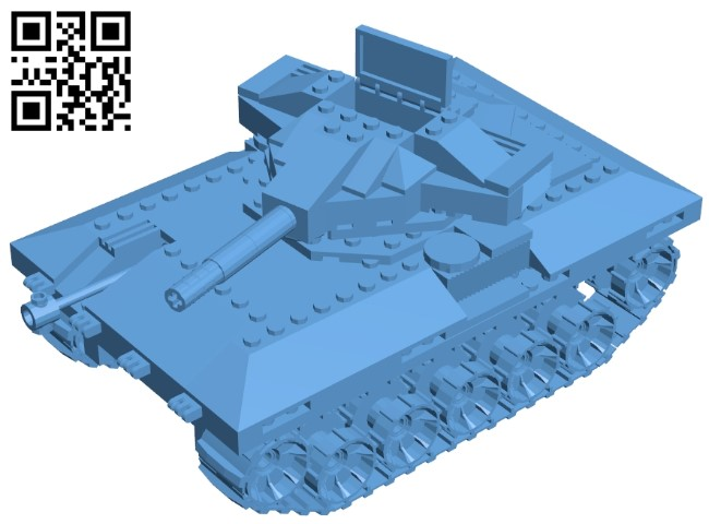 Bulldog tank B009094 file obj free download 3D Model for CNC and 3d printer