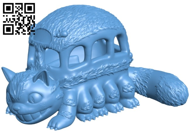 Catbus - My Neighbor Totoro B009131 file obj free download 3D Model for CNC and 3d printer