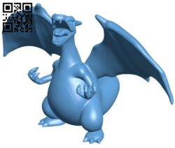 Charizard – Pokemon B009041 file obj free download 3D Model for CNC and 3d printer