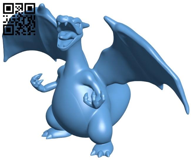 Charizard - Pokemon B009041 file obj free download 3D Model for CNC and 3d printer