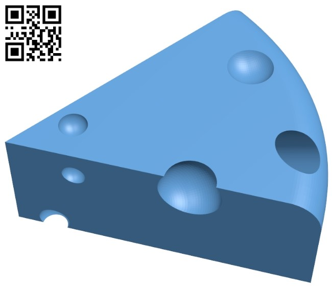 Cheese block B009158 file obj free download 3D Model for CNC and 3d printer
