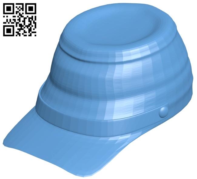 Civil war cap - hat B009095 file obj free download 3D Model for CNC and 3d printer