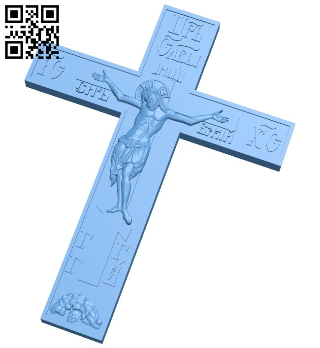 Cross symbol pattern A006120 download free stl files 3d model for CNC wood carving
