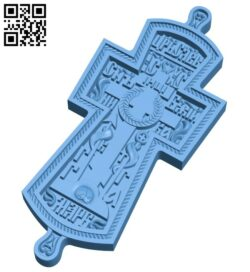 Cross symbol pattern A006121 download free stl files 3d model for CNC wood carving