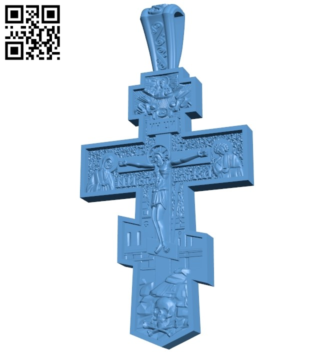 Cross symbol pattern A006122 download free stl files 3d model for CNC wood carving