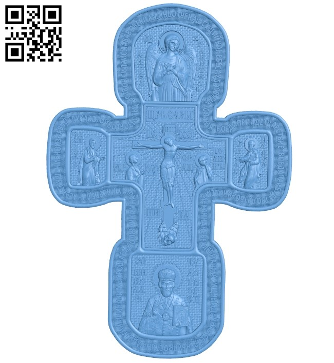 Cross symbol pattern A006127 download free stl files 3d model for CNC wood carving
