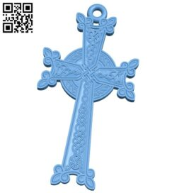 Cross symbol pattern A006129 download free stl files 3d model for CNC wood carving