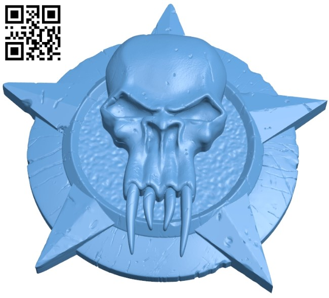 Dark watch wadge B009040 file obj free download 3D Model for CNC and 3d printer
