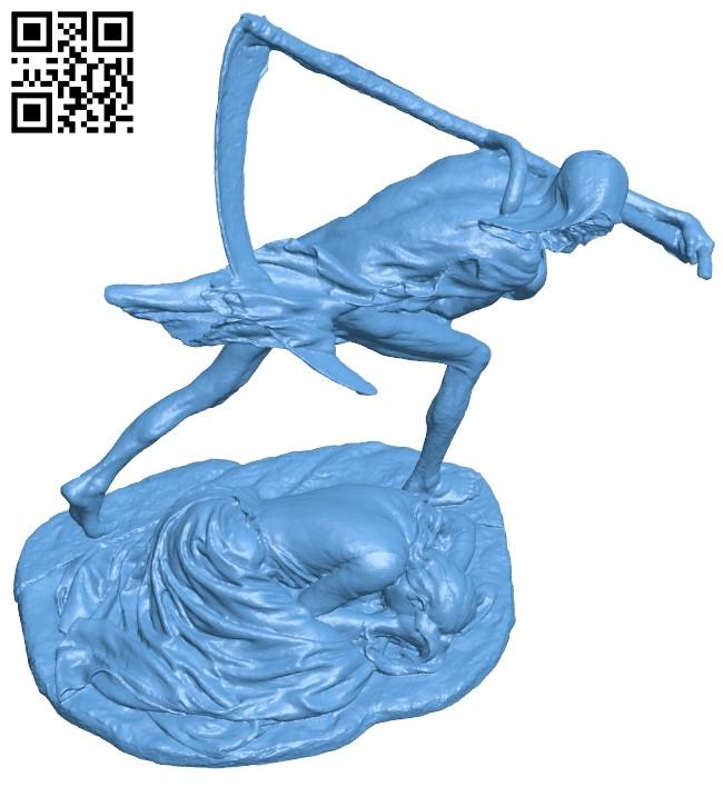 Deathyy cut B009145 file obj free download 3D Model for CNC and 3d printer