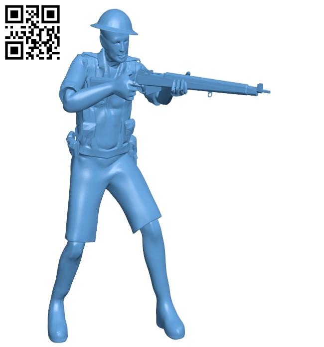 Desert troops B009062 file obj free download 3D Model for CNC and 3d printer