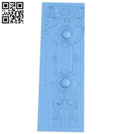Door pattern A006039 download free stl files 3d model for CNC wood carving