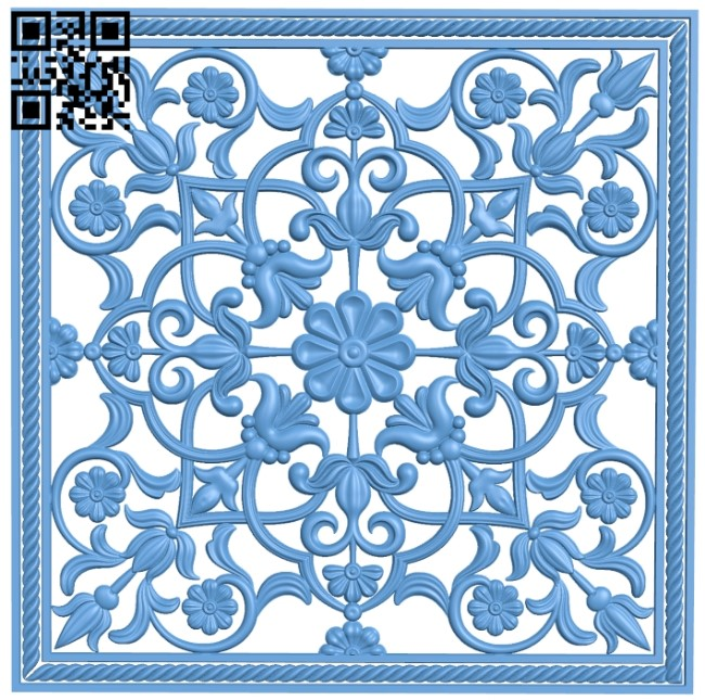 Door pattern A006091 download free stl files 3d model for CNC wood carving