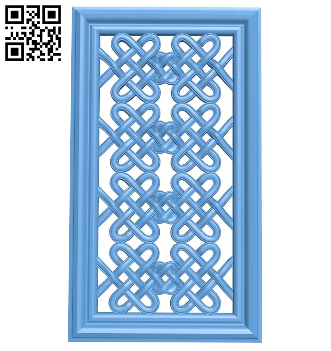 Door pattern A006092 download free stl files 3d model for CNC wood carving