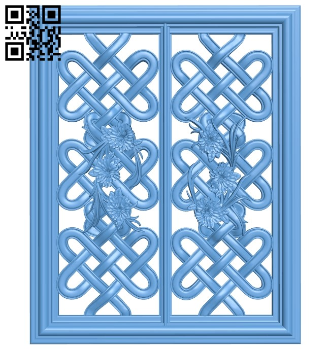 Door pattern A006093 download free stl files 3d model for CNC wood carving
